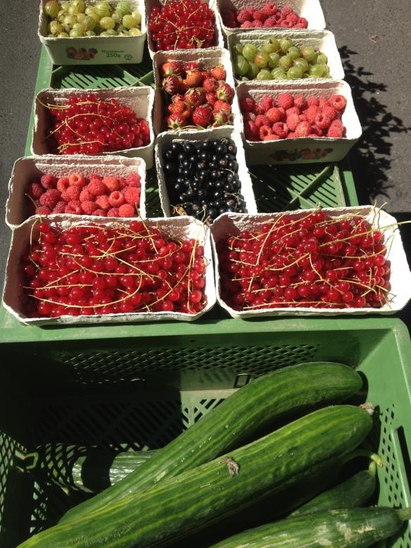 פירות ומלפפונים