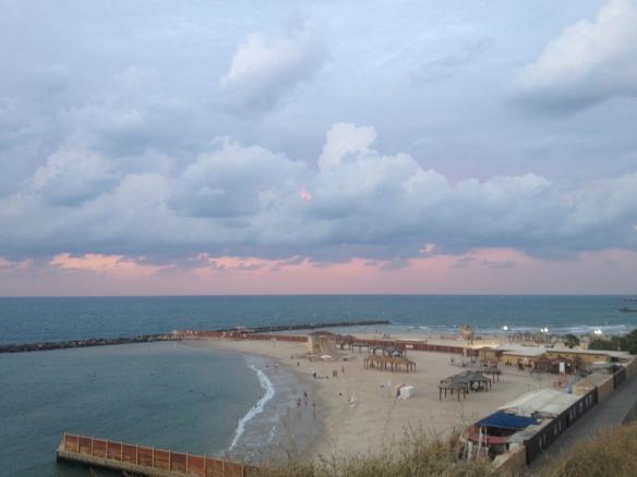 שקיעה, חופי תל אביב